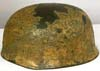 Luftwaffe M38 Fallschirmjager helmet with tropical tan (Afrika) and zimmeritt finish