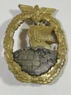 Kriegsmarine Auxiliary Cruiser badge by C.E. Juncker