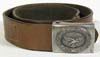 Luftwaffe enlisted man's leather belt with a steel combat buckle