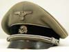 Waffen SS officer's visor hat converted from army infantry officer's