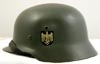 Model 1935 pattern, Heer OFFICER'S double-decal ALUMINUM parade helmet