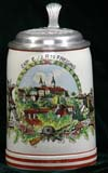 German Army beer stein for 2. KP. E./I.R. (Infantry Regt.) 19 FREISING