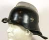 Feuerschutzpolizei helmet with leather neck apron