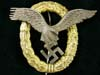 Luftwaffe Combined Pilot Observer badge attributed to Friedrich Linden, Ludensheid