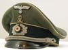 Army Infantry officer's visor with Braunschweig traditions insignia