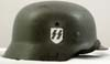 Waffen SS M35 double decal re-issued combat helmet