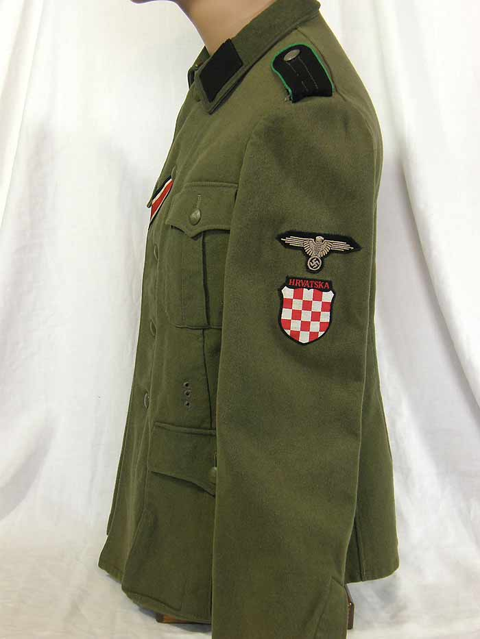 """Crystal Lake Il >> Waffen SS """"HANDSCHAR"""" Division M39 tunic and field gray fez"""