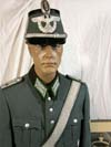 Schutzpolizei named Oberleutnant uniform including officer's shako and greatcoat
