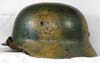 Army M40 helmet with Normandy pattern camouflage finish