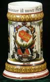 Imperial German Army regimental stein of Fahrer Reinohls  Battr. Feld. Art. Rgt. 13 Ulm. 98/1900