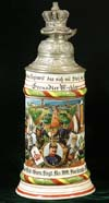 Imperial German army stein of Grenadier Mechler of the 6. Comp. 1 Bad. Leib. Gren. Regt. Nr.109 Karlsruhe 1907-09
