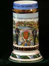 Imperial German Army stein, un-attributed to a soldier of the 21. 9. Feldart. Regt. 3. Batt.Landsberg a. Lech  1911-13