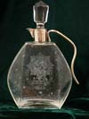 Glass decanter commemorating the Fallschirmjager invasion of Kreta 1941
