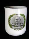 Porcelain demitasse with Field Marshall Paul v. Hindenburg portrait