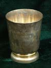 Silver cup inscribed FUR BESTEN BUNKER PARIS 1940 made by CHRISTOFLE