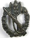 Army/Waffen SS Infantry Assault Badge in Silver