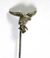 Early Luftwaffe personnel stickpin with 1st style eagle