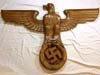 German headquarters wall eagle from Metz, France