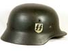 Waffen SS single decal M40 combat helmet