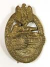 Army/Waffen SS Panzer Assault badge in bronze by Frank & Reif