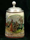 German Army beer stein for 15. Komp. Infantry Rgt. 61