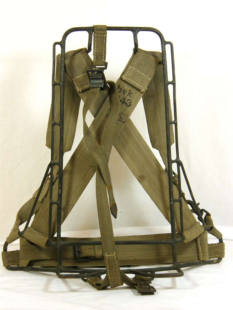 german army assault pack a frame 1943 stamped