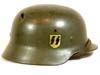Waffen SS rare M35 single decal combat helmet