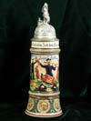 Imperial German Army stein named to Reservist Rubl. of 2. Comp. 5. Grolshzg. Inf. Rgt. 168, Butzbach