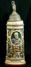 Imperial German Army stein named to Reservist Geier