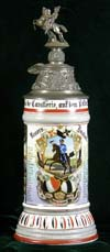 Imperial German Army stein of Rervervist Dunker