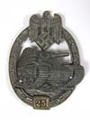 Army/Waffen SS Panzer Assault badge for 25 engagements