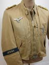 Luftwaffe JG27 tropical flight jacket named to Oblt. Egon Rall and mesh flight helmet marked with JG27