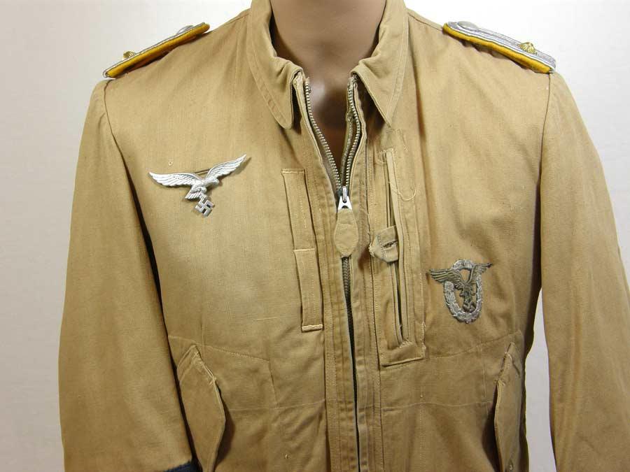Luftwaffe JG27 tropical flight jacket named to Oblt. Egon Rall ...