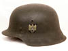 Heer M42 single decal combat helmet