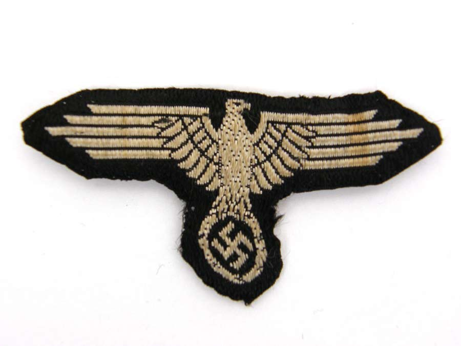 Waffen SS machine woven ( bevo) skull and eagle for M43 or M40