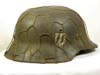 Extremely rare SS M42 combat helmet by with full chickenwire basket