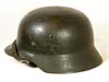 Luftwaffe M35 double decal combat helmet worn by FLAK unit personnel