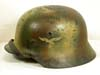 Luftwaffe M40 combat helmet with Normandy pattern camouflage finish