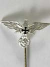 Veterans Association full-size silver stickpin