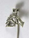 NSBO membership Badge full-size silver stick pin