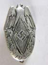 World War Two 1936 National Youth Meeting  hallmarked silver  pin Badge