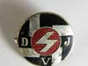 Deutsche Jugend Volk (German  Youth ) D JV enameled badge