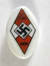 Hitler Youth porcelain day badge