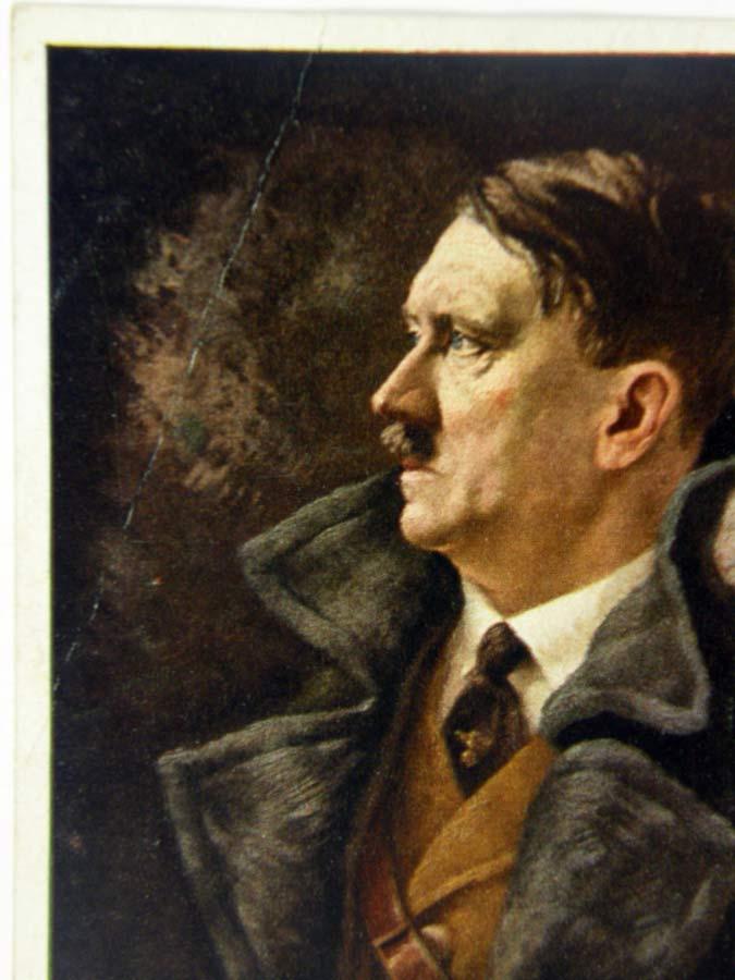 Adolf Hitler Painted Portrait Art Card