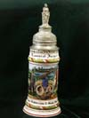 Imperial German Army stein of Rervervist Jager