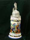 Imperial German Army stein of Rervervist Seitz