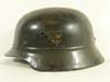 Polizei re-issued M35 double decal beaded combat helmet