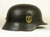 Waffen SS M40 single decal combat helmet by ET