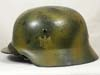 Army M35 reissued camouflage helmet with visible single decal and named by SE