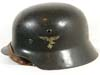 Luftwaffe M35 double decal helmet with early droop-tail eagle by Quist